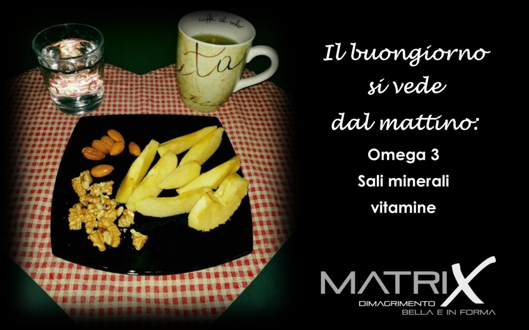 Omega 3, vitamine, sali minerali, antiossidanti, per una giornata di salute e bellezza